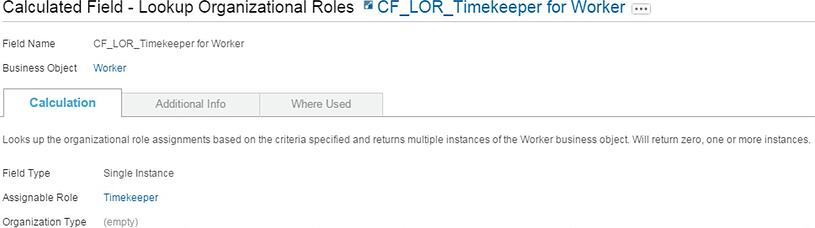 Workday Calculated Field Lookup Organizational Roles